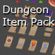 Low Poly Dungeon Item Pack 1 - 3DOcean Item for Sale