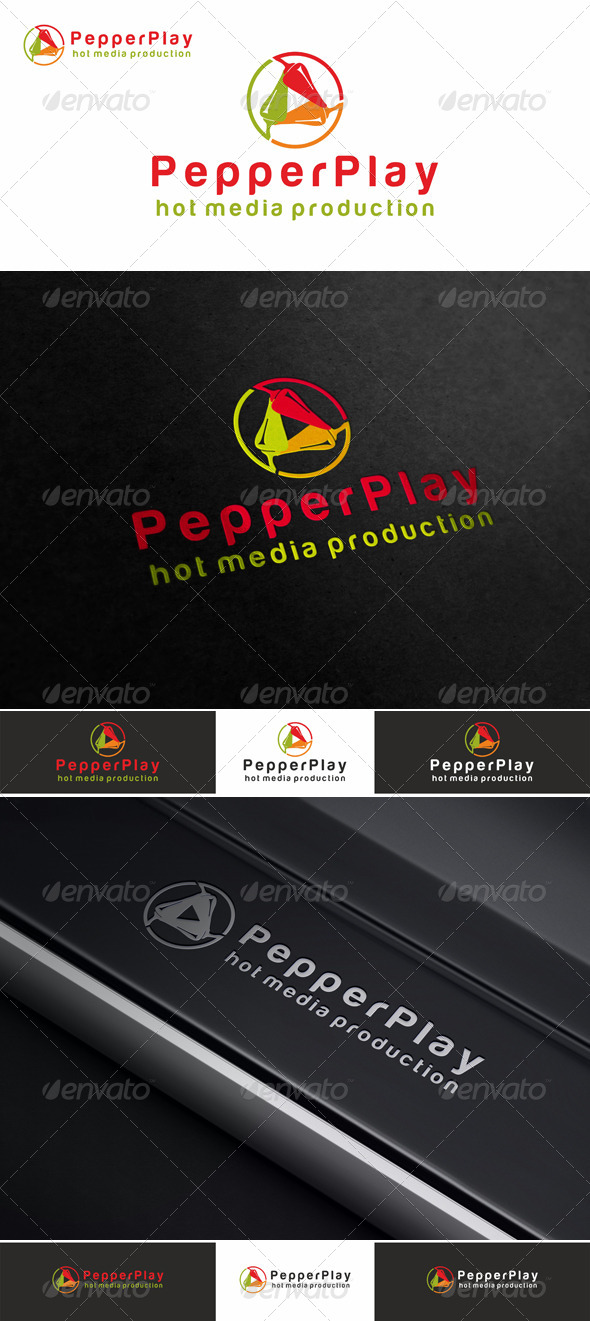 GraphicRiver Pepper Play Multimedia Logo 4427390