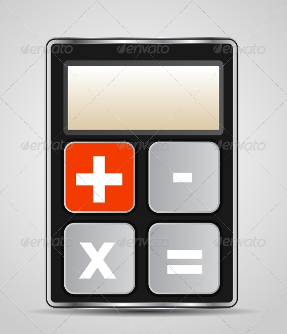 GraphicRiver Vector Calculator Icon with Gray Buttons 4427407