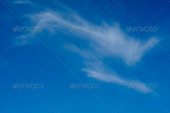 Soft clouds in the blue sky - Stock Photo - Images