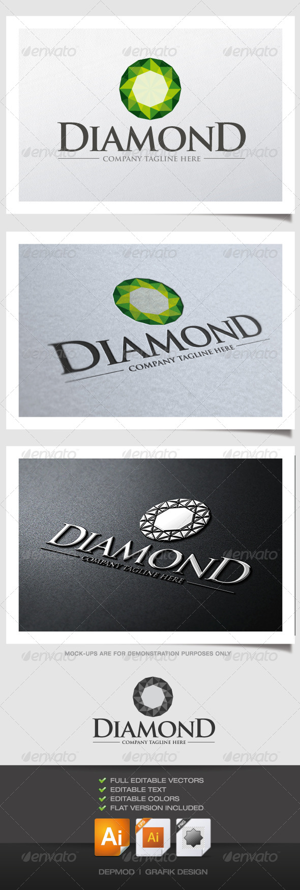 GraphicRiver Diamond Logo 4427439