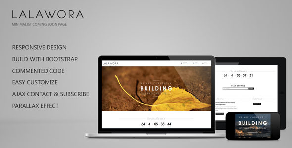 ThemeForest Lalawora Responsive Coming Soon Page 4428114