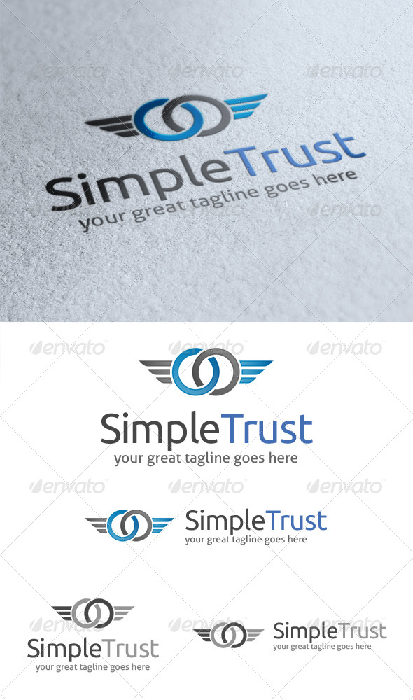 GraphicRiver Simple Trust Logo 4428242