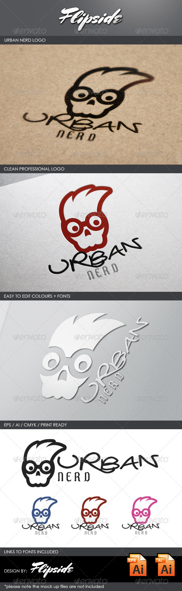GraphicRiver Urban Nerd Logo 4340561