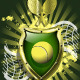 Tennis Ball on Background of the Shield - GraphicRiver Item for Sale