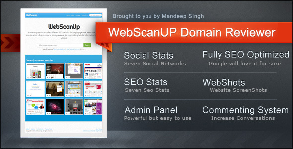 CodeCanyon WebScanUP Domain Reviewer & SEO Stats Checker 4429933