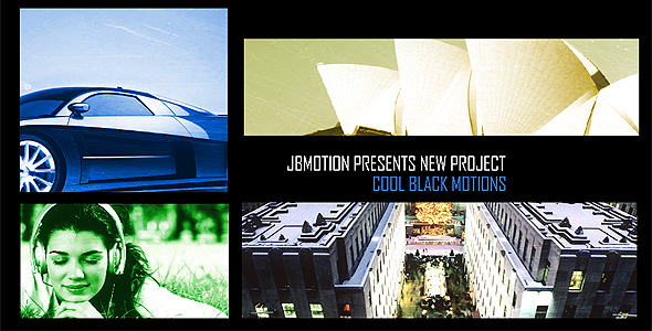 After Effects Project - VideoHive Cool Black Motions 473873