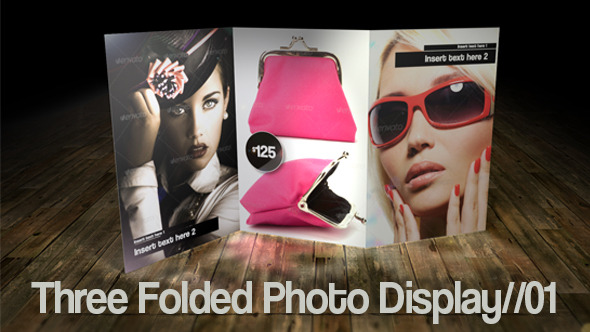 VideoHive Three Folded Photo Display 01 4384198