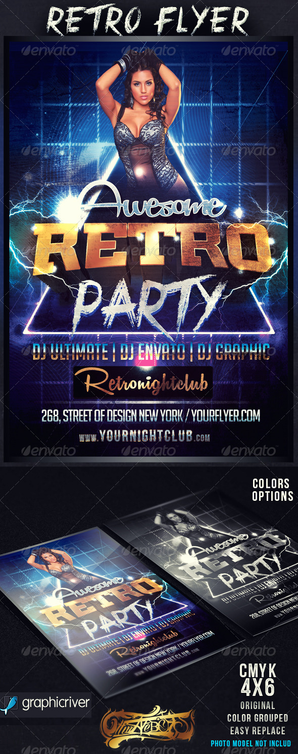 GraphicRiver Awesome Retro Flyer 4431319