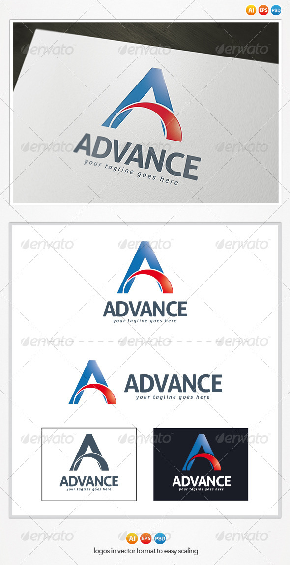 Advance Logo - Letters Logo Templates