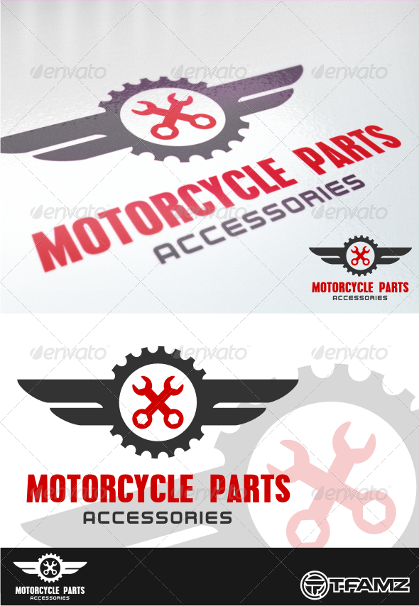 GraphicRiver motorcycle parts 4431759