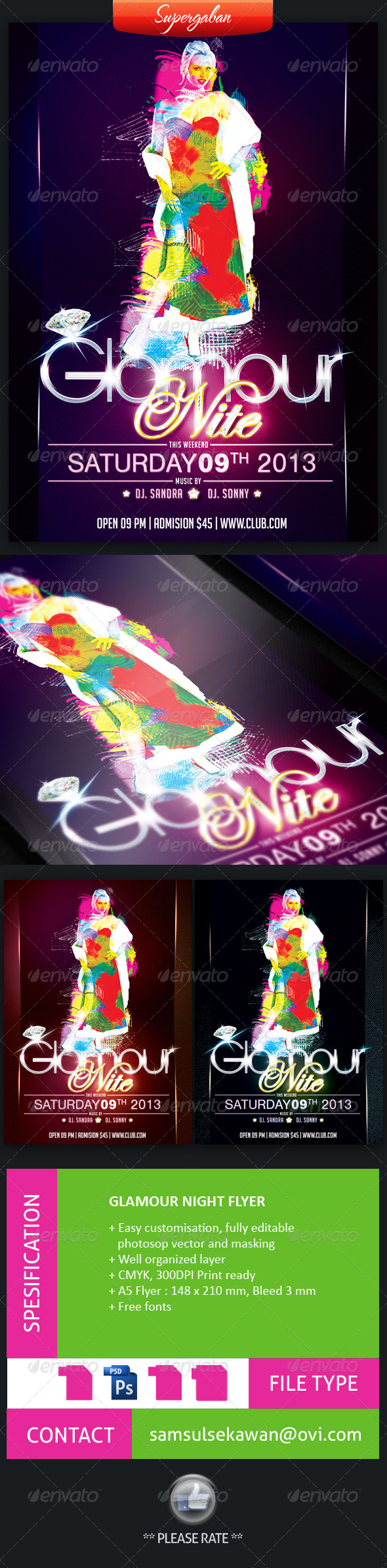GraphicRiver Glamour Night Flyer 4431894