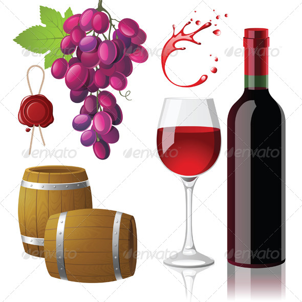 GraphicRiver Wine Icons 4431979