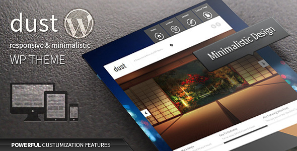 ThemeForest Dust Responsive & Minimalist Theme 4390995