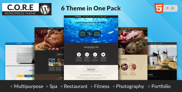 Core -  Responsive One Page WordPress Theme - Creative WordPress