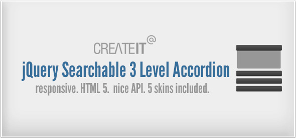 jQuery Searchable 3 Level Accordion - CodeCanyon Item for Sale