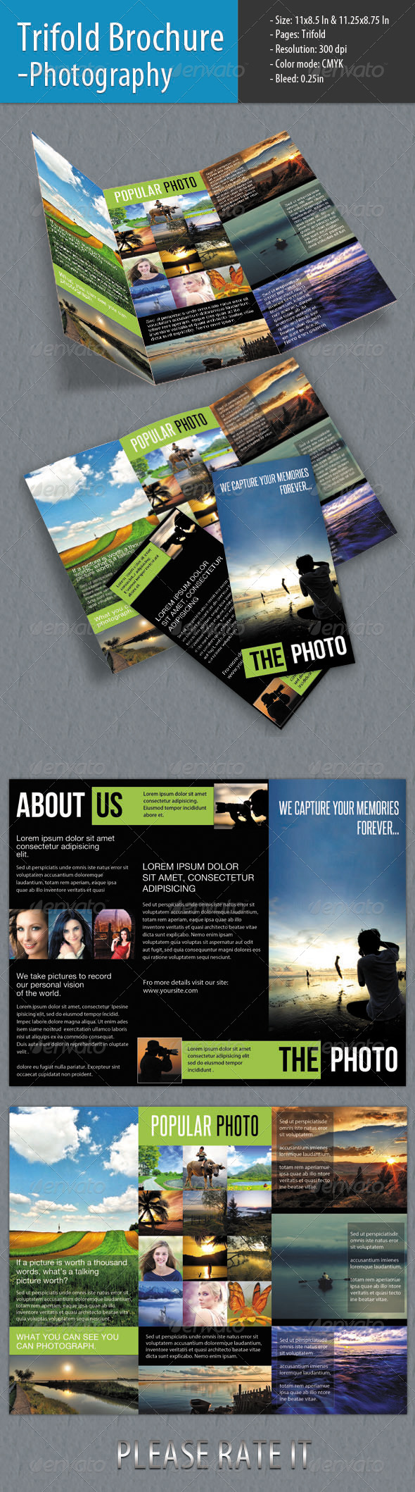 GraphicRiver Trifold Brochure For Photography 4320165