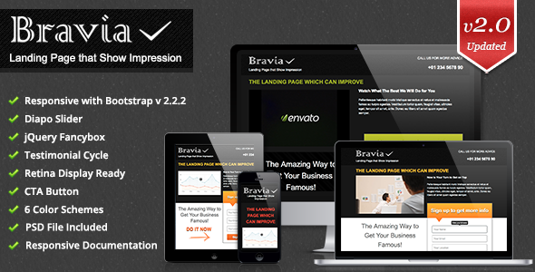 Bravia Landing Page - Landing Pages Marketing