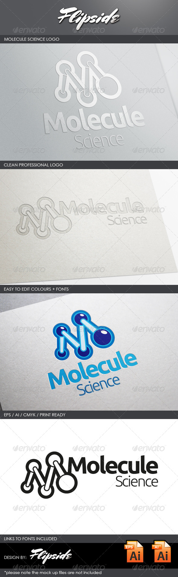 GraphicRiver Molecule Science Lab Logo 4331019