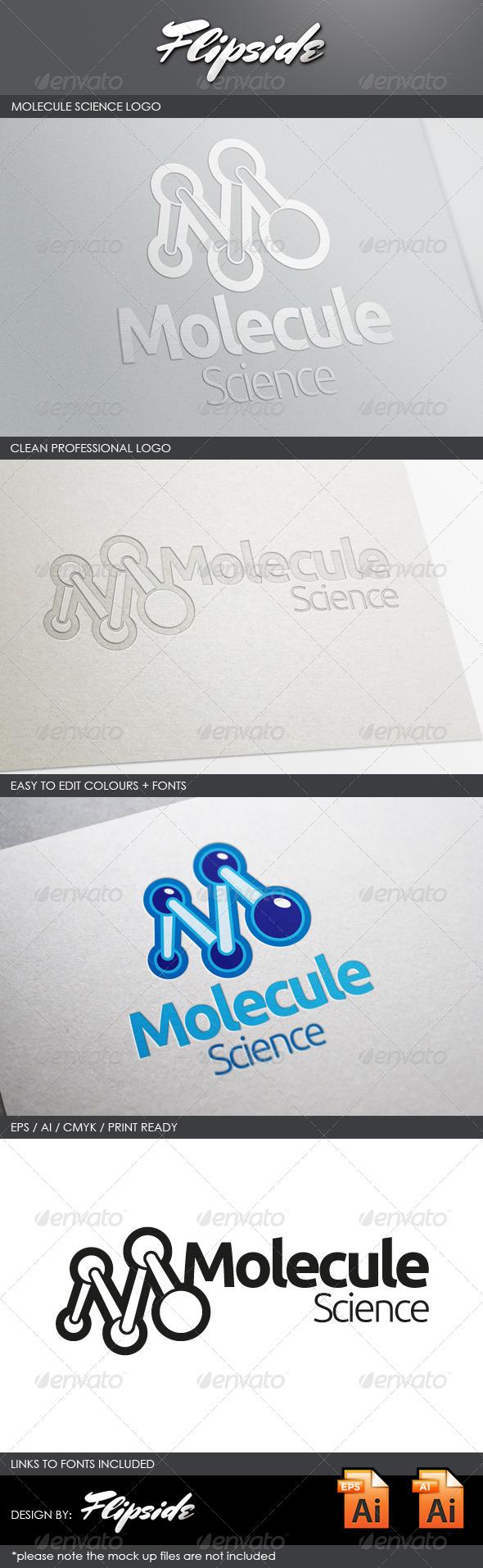 GraphicRiver Molecule Science Lab Logo 4331019