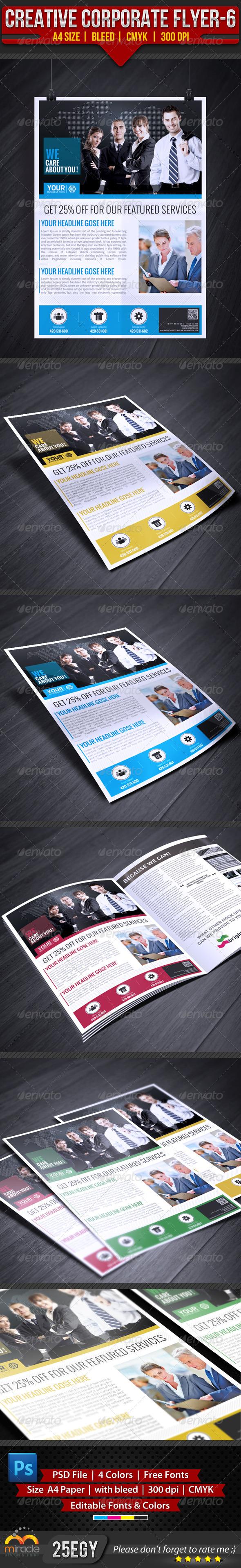GraphicRiver Creative Corporate Flyer 6 4433146