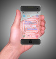 Transparent Mobile Smart Phone in man's Hand Social Media - PhotoDune Item for Sale