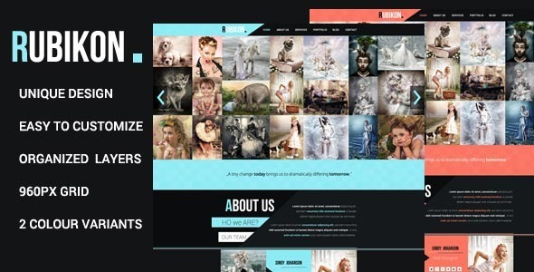ThemeForest Rubikon One Page Psd Template 4433995