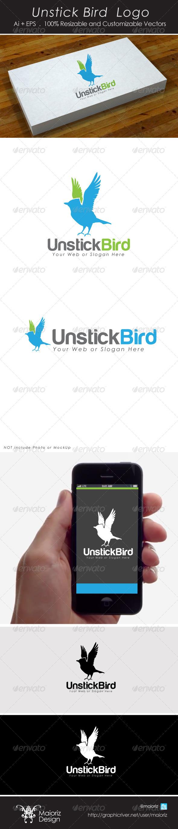 GraphicRiver Unstick Bird Logo 4307430