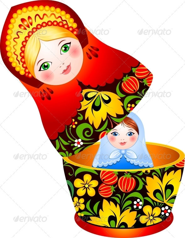GraphicRiver Russian Tradition Matryoshka Doll 4434352