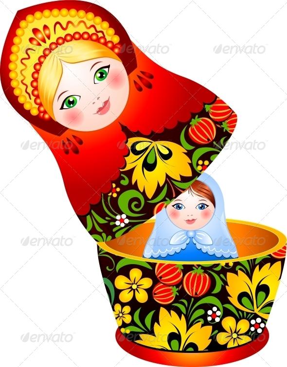 GraphicRiver Russian Tradition Matryoshka Doll 4434352