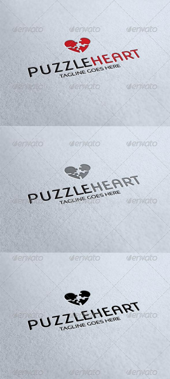 GraphicRiver Puzzleheart Logo 4356718