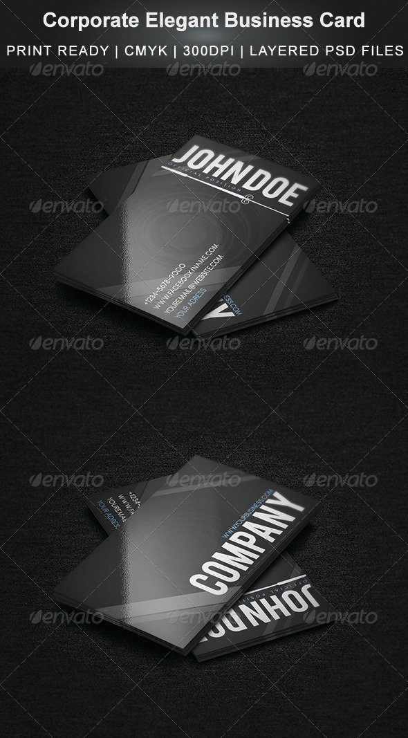 GraphicRiver Elegant Agency Business Card 3752524
