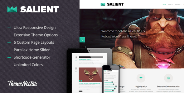 Salient - Responsive Portfolio & Blog Theme - ThemeForest Item for Sale