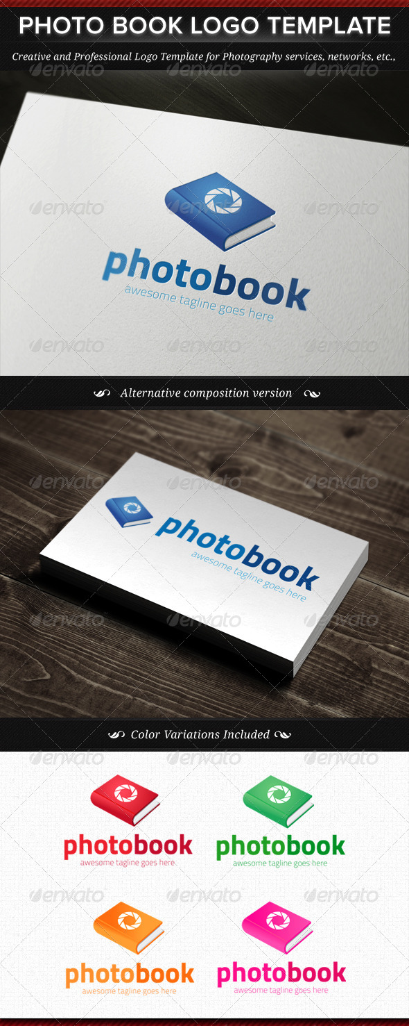 GraphicRiver Photo Book Logo Template 4436467