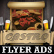 Restaurant-Bar Magazine Ads or Flyers Template - GraphicRiver Item for Sale