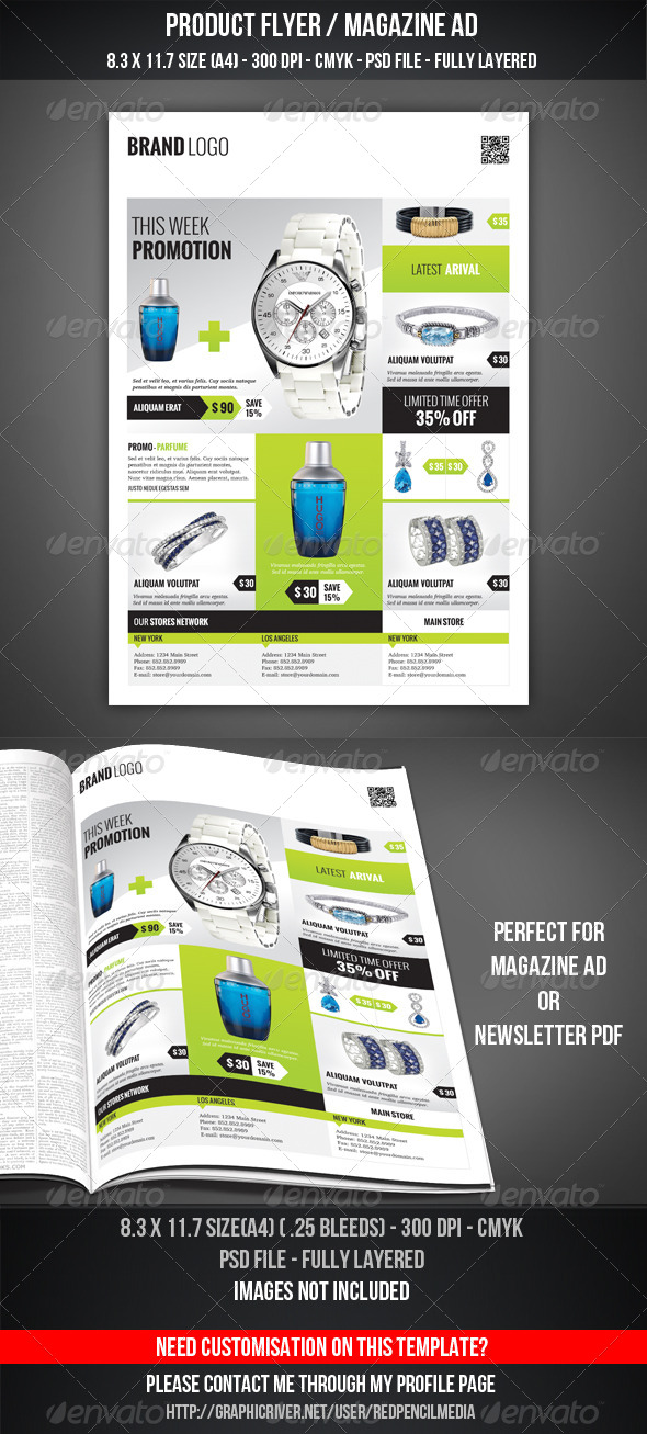 Product Flyer / Magazine AD - Flyers Print Templates