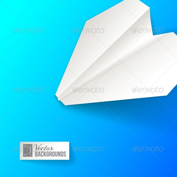 GraphicRiver Paper Airplane Background 4441142