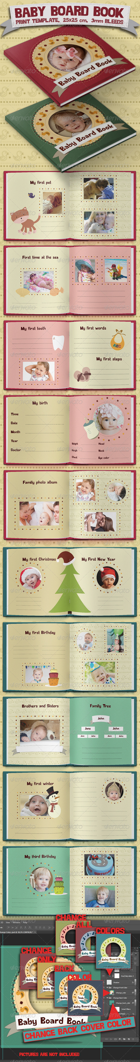 GraphicRiver Baby Board Book 4441181