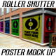 Security Roller Shutter &amp;amp; Poster Mockup - GraphicRiver Item for Sale