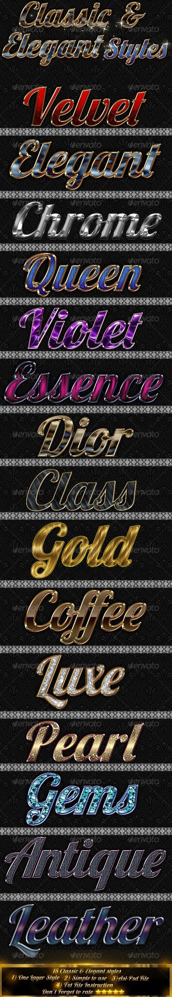 GraphicRiver Classic & Elegant Styles 4441336