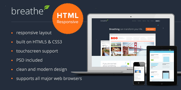 Breathe Responsive HTML Template