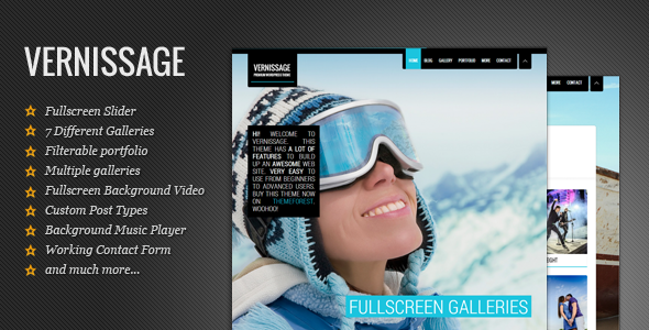 ThemeForest Vernissage Responsive Photography Portfolio Theme 4436204