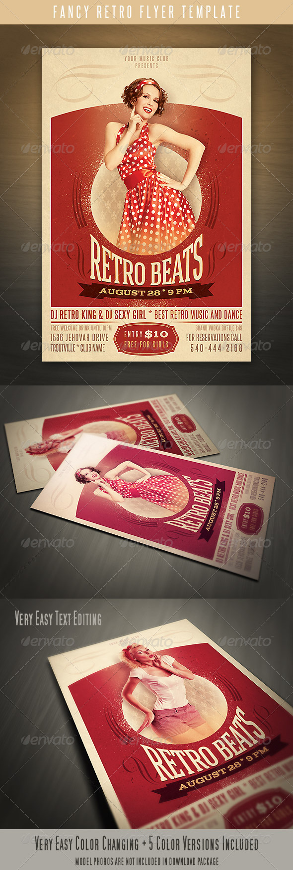 Fancy Retro Flyer - Clubs & Parties Events