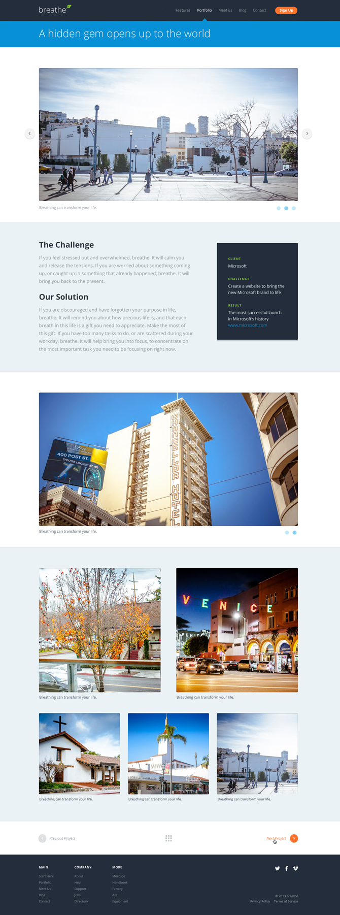 Breathe Portfolio Template