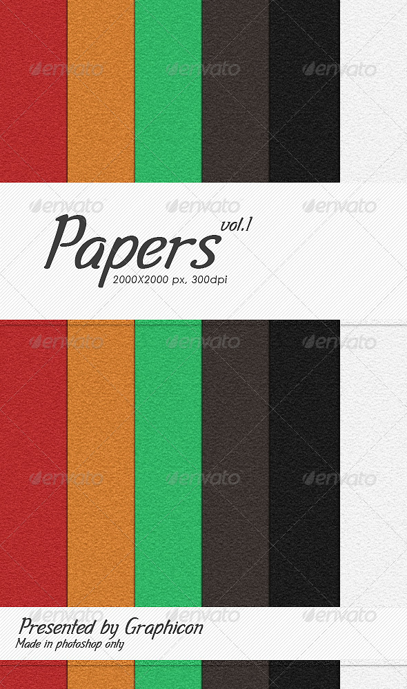 GraphicRiver Papers Pack 4442953