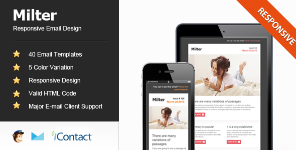 Milter - Responsive E-mail Template - Email Templates Marketing