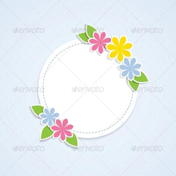 GraphicRiver Floral Frame 4443301