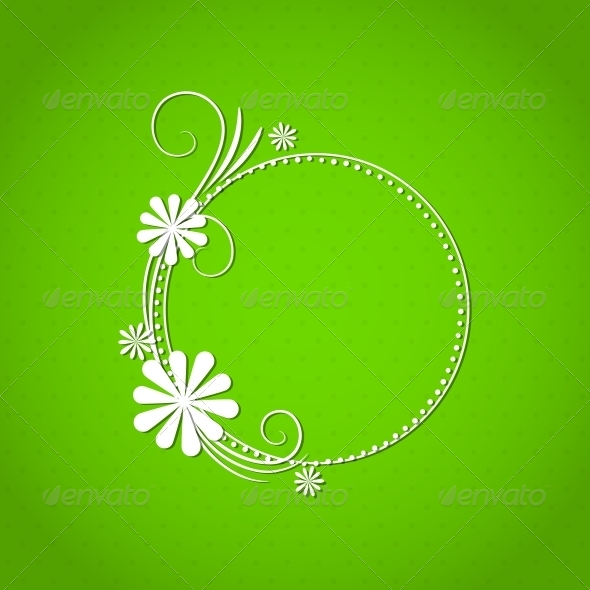 GraphicRiver Floral Frame 4443418