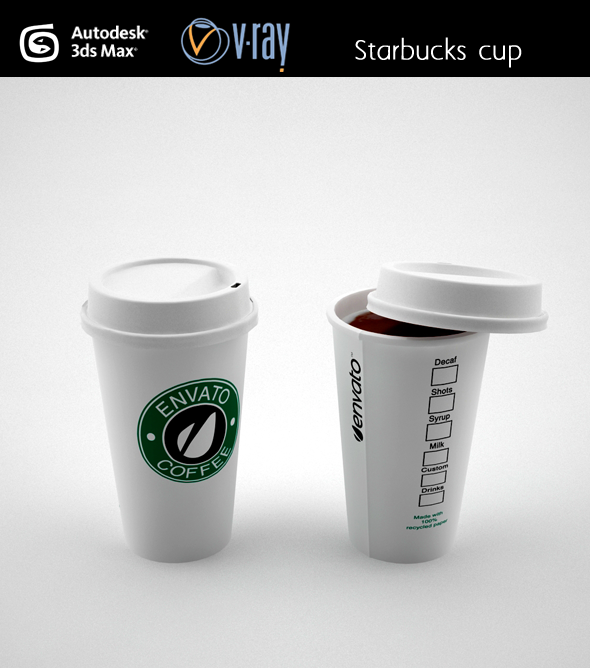 3DOcean Starbucks Coffee cup 4443433