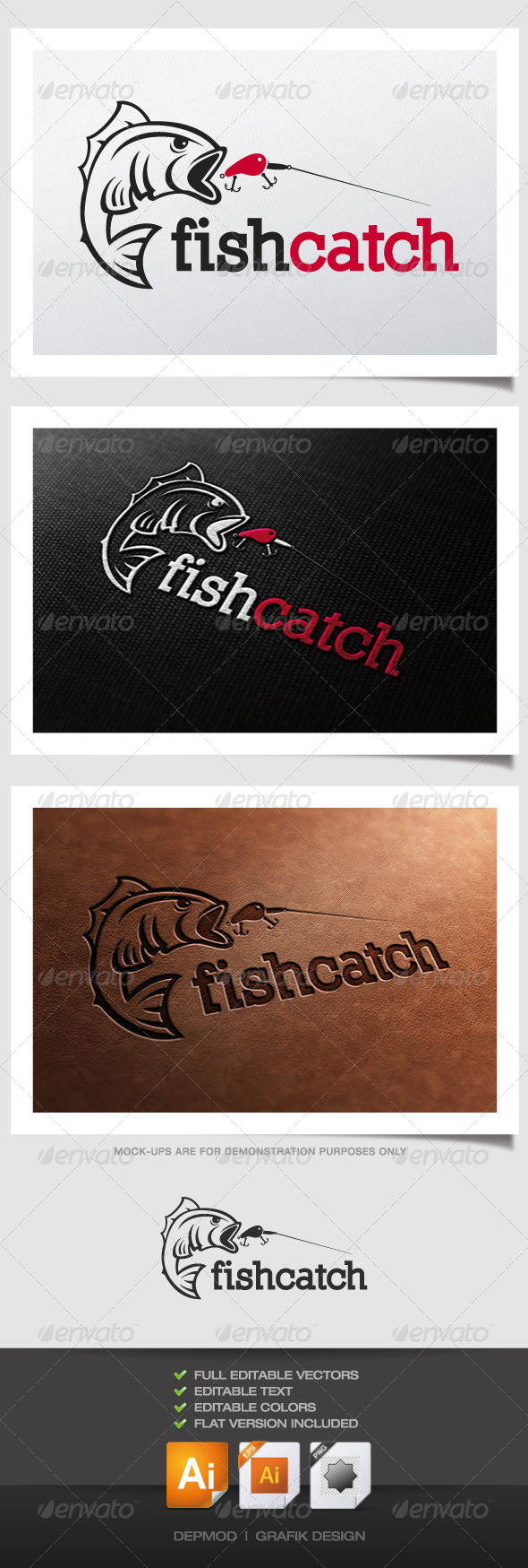GraphicRiver Fish Catch Logo 4443624